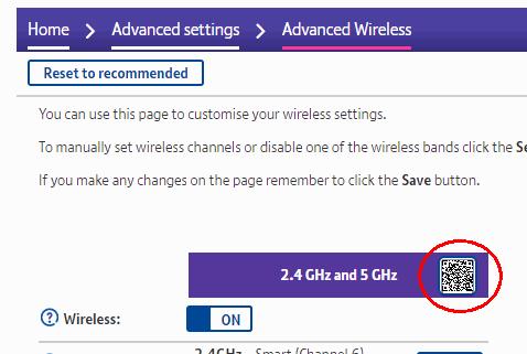 Snapshot showing QR code link
